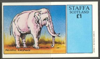 Staffa (br.  Local) 1982 Elephant I S/s 1£ Ns018 photo
