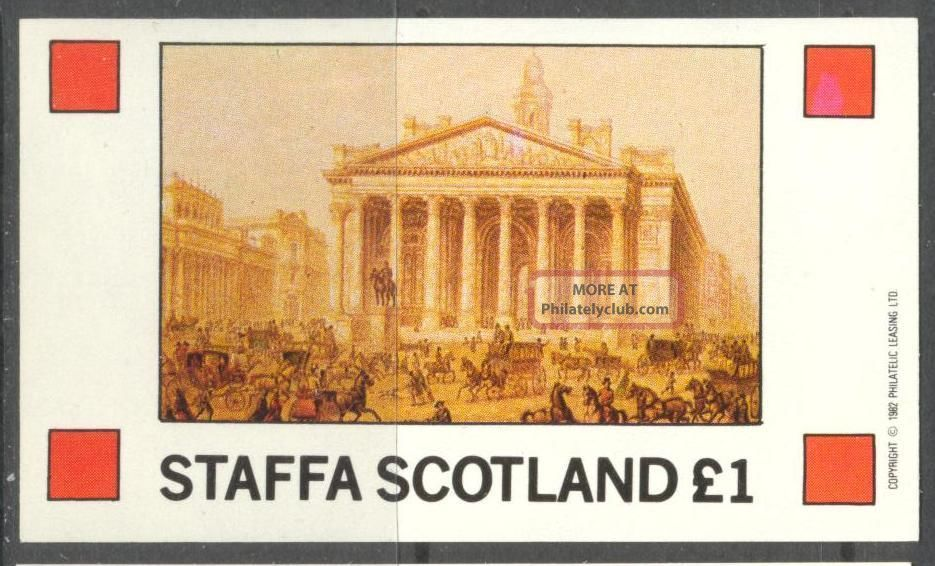 Staffa (br.  Local) 1982 Art Paintings Ii S/s 1£ Ns044 Specialty Philately photo