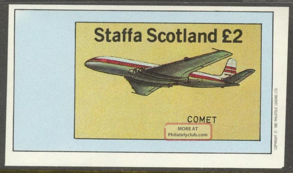 Staffa (br.  Local) 1982 Aviation Airplanes I S/s 1£ Ns011 Specialty Philately photo