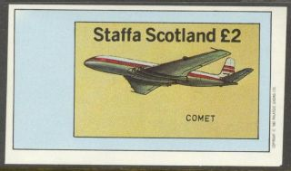 Staffa (br.  Local) 1982 Aviation Airplanes I S/s 1£ Ns011 photo