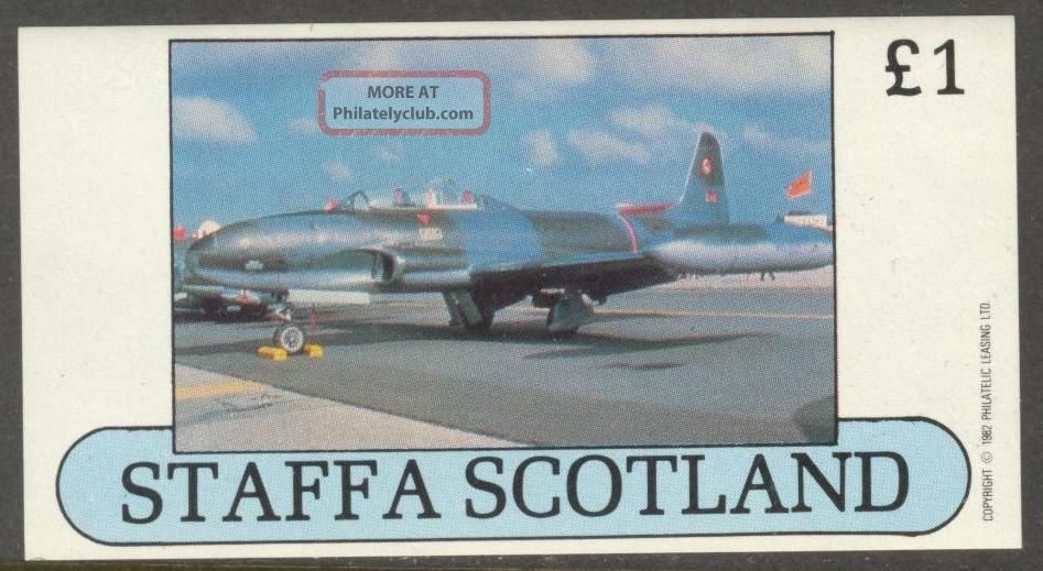 Staffa (br.  Local) 1982 Aviation Airplanes V S/s 1£ Ns015 Specialty Philately photo