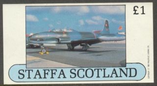 Staffa (br.  Local) 1982 Aviation Airplanes V S/s 1£ Ns015 photo