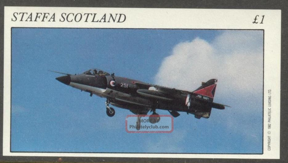Staffa (br.  Local) 1982 Aviation Airplanes Iii S/s 1£ Ns013 Specialty Philately photo