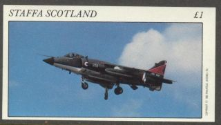Staffa (br.  Local) 1982 Aviation Airplanes Iii S/s 1£ Ns013 photo