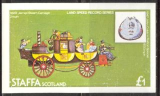 Staffa (br.  Local) 1982 Transport Carriage S/s 1£ Ns035 photo