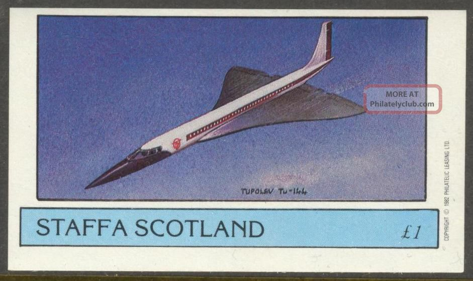 Staffa (br.  Local) 1982 Aviation Airplanes Ii Tupolev Tu - 144 S/s 1£ Ns012 Specialty Philately photo