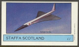 Staffa (br.  Local) 1982 Aviation Airplanes Ii Tupolev Tu - 144 S/s 1£ Ns012 photo
