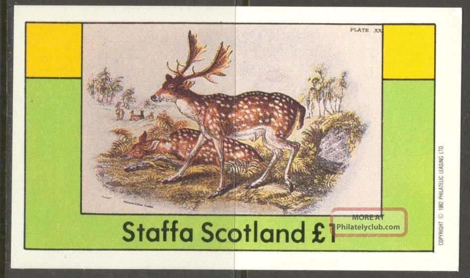 Staffa (br.  Local) 1982 Deers S/s 1£ Ns023 Specialty Philately photo