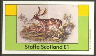 Staffa (br.  Local) 1982 Deers S/s 1£ Ns023 photo