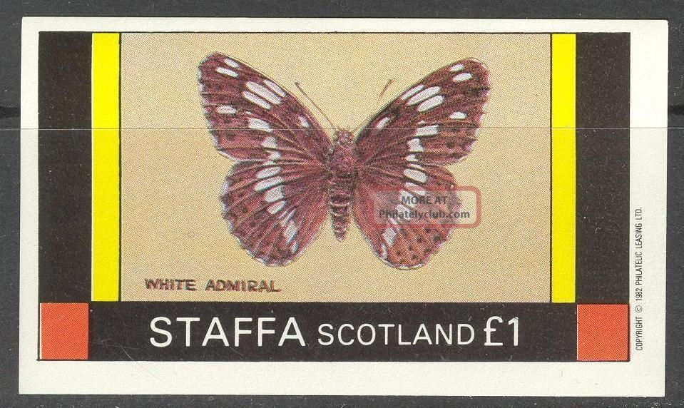 Staffa (br.  Local) 1982 Insects Butterflies Ii S/s 1£ Ns022 Specialty Philately photo