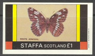 Staffa (br.  Local) 1982 Insects Butterflies Ii S/s 1£ Ns022 photo