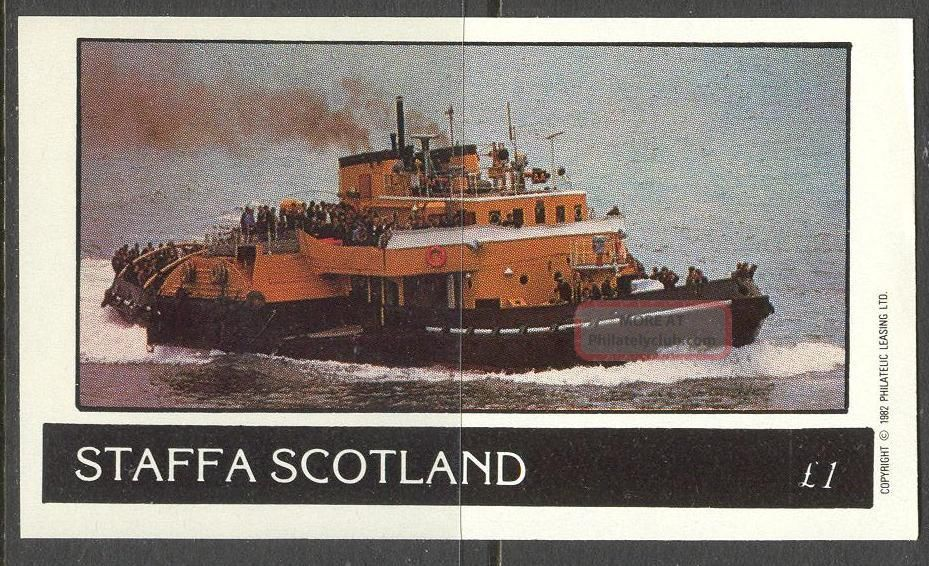 Staffa (br.  Local) 1982 Ships Iv S/s 1£ Ns040 Specialty Philately photo