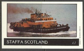 Staffa (br.  Local) 1982 Ships Iv S/s 1£ Ns040 photo