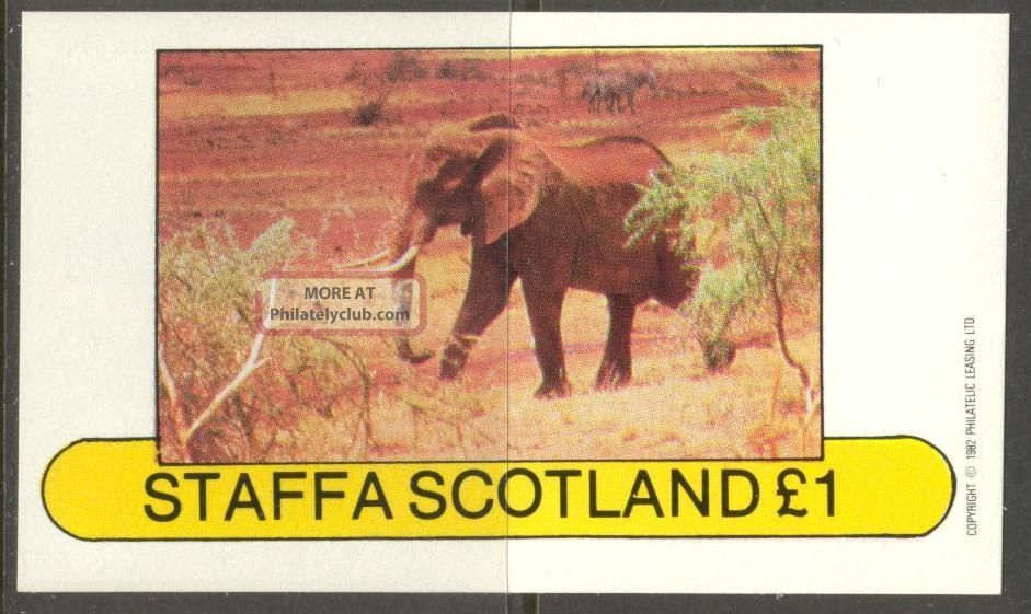 Staffa (br.  Local) 1982 Elephant Ii S/s 1£ Ns019 Specialty Philately photo