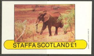 Staffa (br.  Local) 1982 Elephant Ii S/s 1£ Ns019 photo
