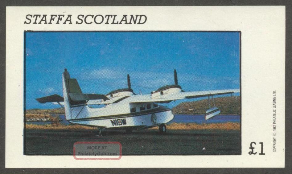 Staffa (br.  Local) 1982 Aviation Airplanes Iv S/s 1£ Ns014 Specialty Philately photo