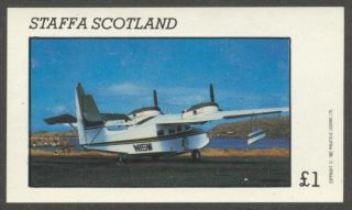 Staffa (br.  Local) 1982 Aviation Airplanes Iv S/s 1£ Ns014 photo