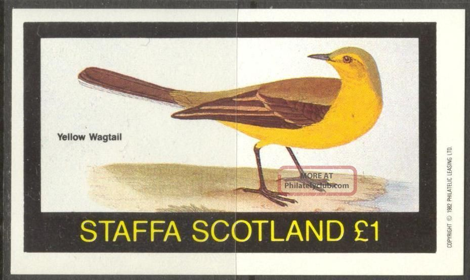 Staffa (br.  Local) 1982 Birds V Yellow Wagtall S/s 1£ Ns050 Specialty Philately photo
