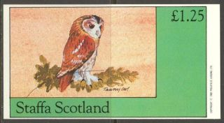 Staffa (br.  Local) 1982 Birds Xiii Owl S/s 1,  25£ Ns058 photo