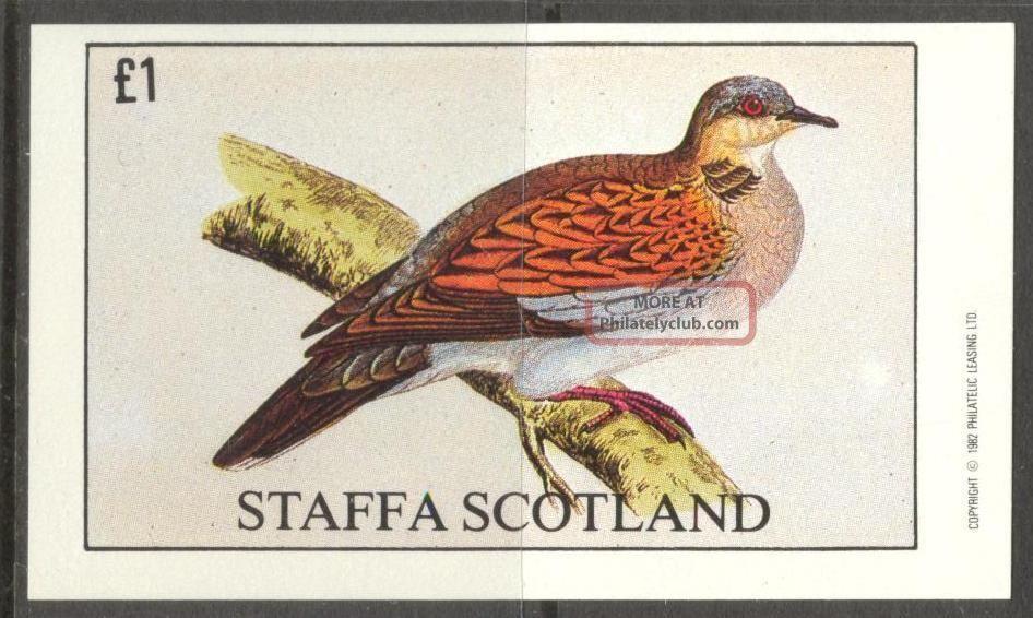 Staffa (br.  Local) 1982 Birds I S/s 1£ Ns046 Specialty Philately photo