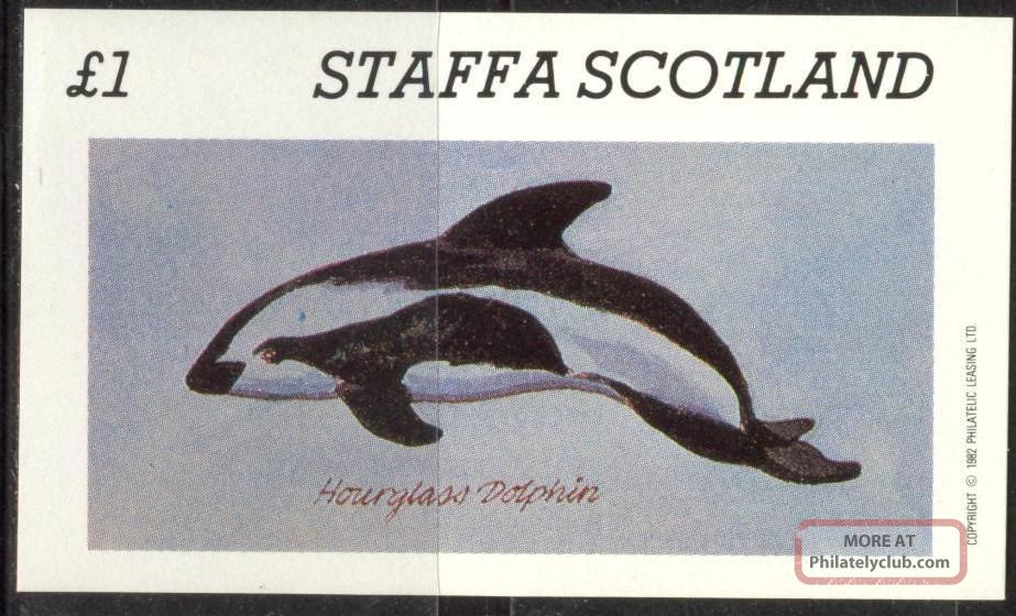 Staffa (br.  Local) 1982 Hourglass Dolphin S/s 1£ Ns017 Specialty Philately photo