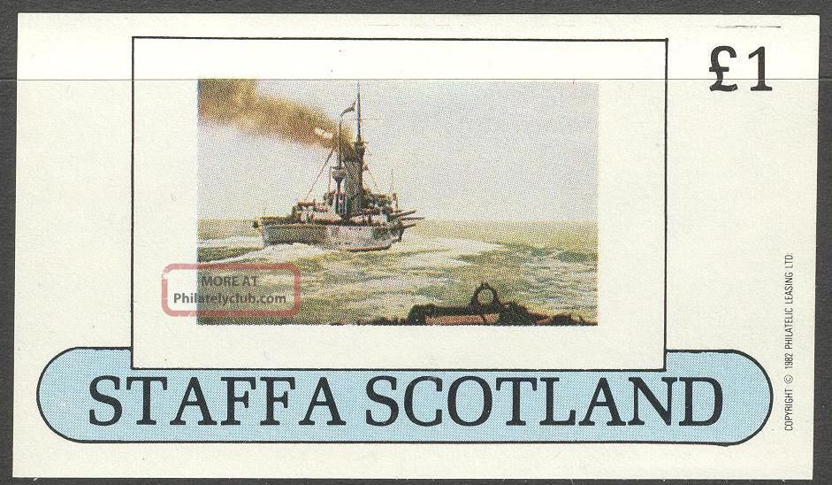 Staffa (br.  Local) 1982 Ships Ii S/s 1£ Ns038 Specialty Philately photo