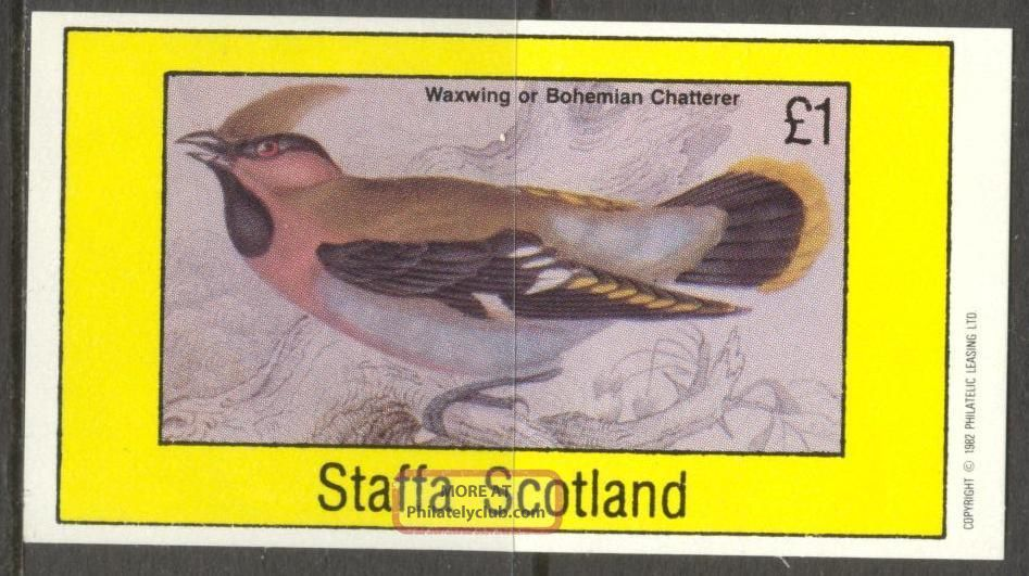 Staffa (br.  Local) 1982 Birds Xi Chatterers/s 1£ Ns056 Specialty Philately photo
