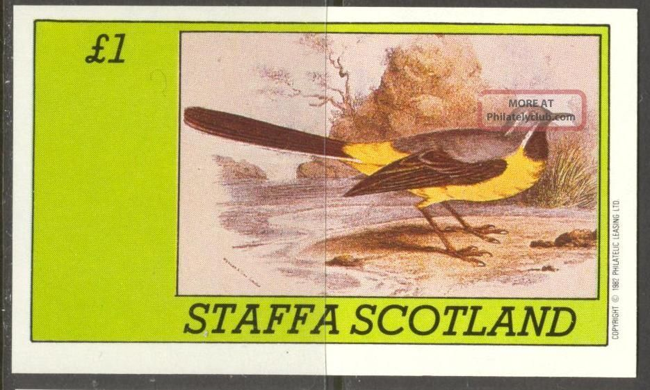 Staffa (br.  Local) 1982 Birds Xviii S/s 1£ Ns063 Specialty Philately photo