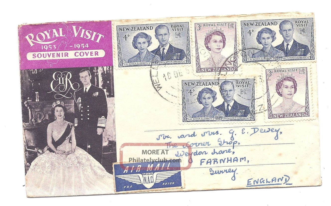 Zealand 1953 Pc Royal Visit 1953 - 54 Souvenir Cover By Air Mail Australia & Oceania photo