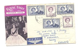 Zealand 1953 Pc Royal Visit 1953 - 54 Souvenir Cover By Air Mail photo