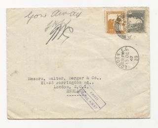 Palestine 1947 Cover+letter Consul Unopend Gone Away photo