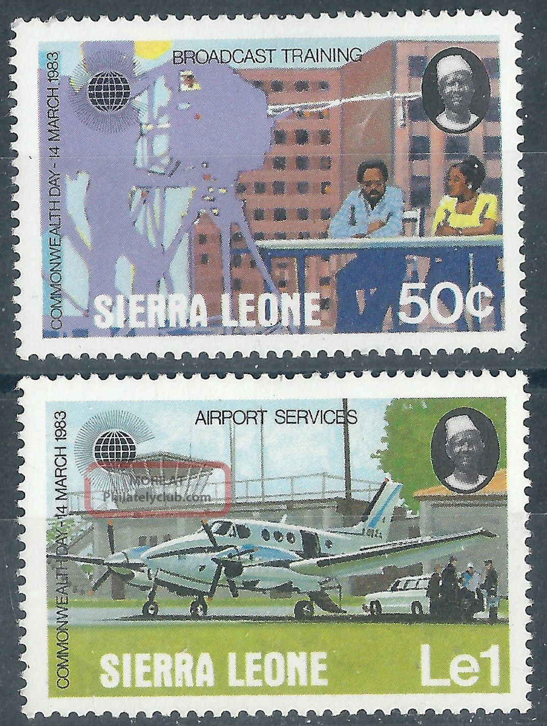 (3916) Sierra Leone.  1983.  Mm.  Commonwealth Day Africa photo