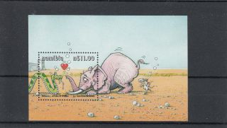 Namibia 2000 Yoka The Snake Cartoon 2nd Series Sg Ms877 Nero Elephant photo