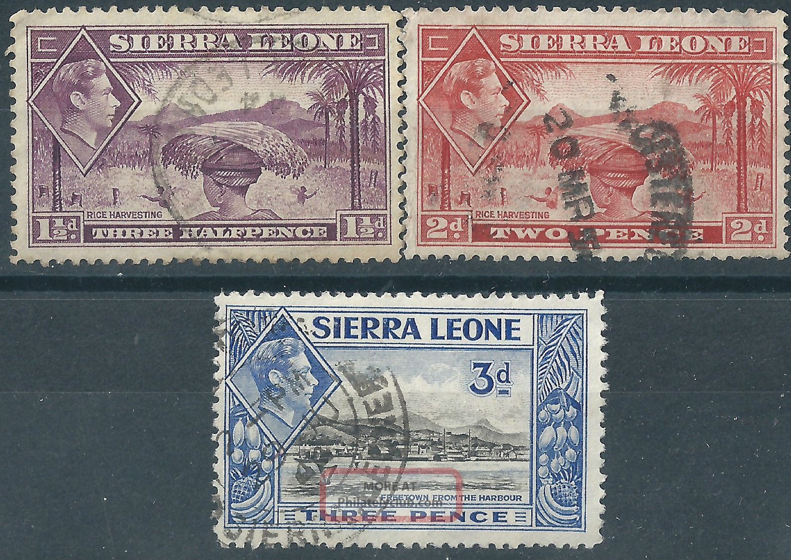 (3914) Sierra Leone.  1938/44. . British Colonies & Territories photo