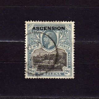 Ascension 4 2p Gray & Blk King George V Wmk.  4 photo