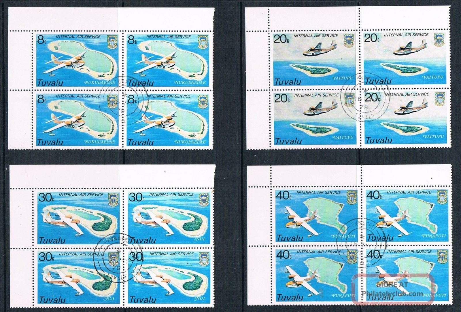 Tuvalu 1979 International Air Service Blk 4 Sg 127/30 Cto Australia & Oceania photo