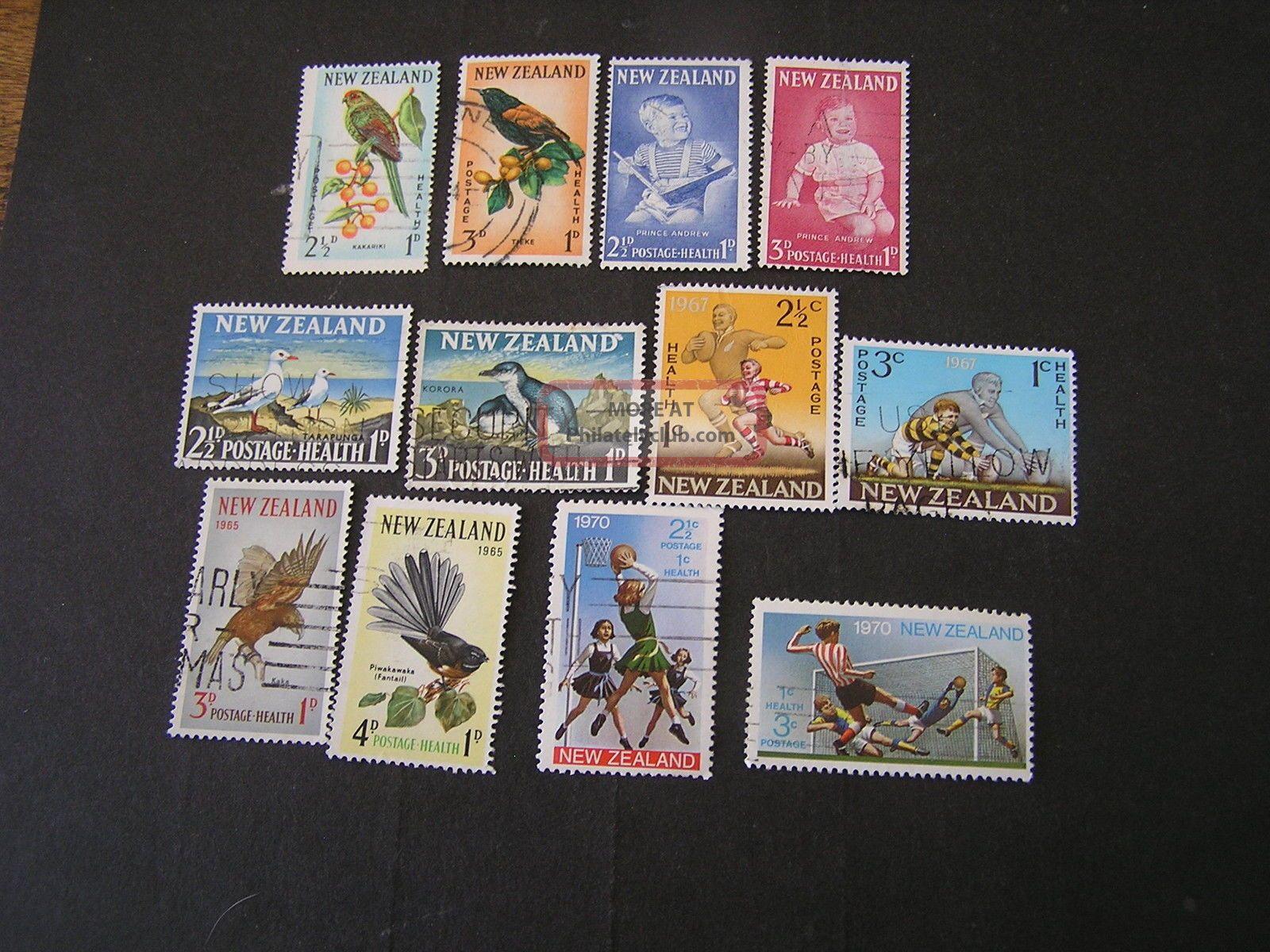 Zealand,  Scott B61/b62+b65/b66+b67/b68+b69/b70+b73/b74+b80/b81 1961+ Australia & Oceania photo