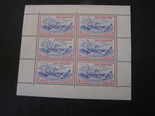Zealand,  Scott B53,  Miniature Sheet Of 6 Semi Postal 1957 Issue photo