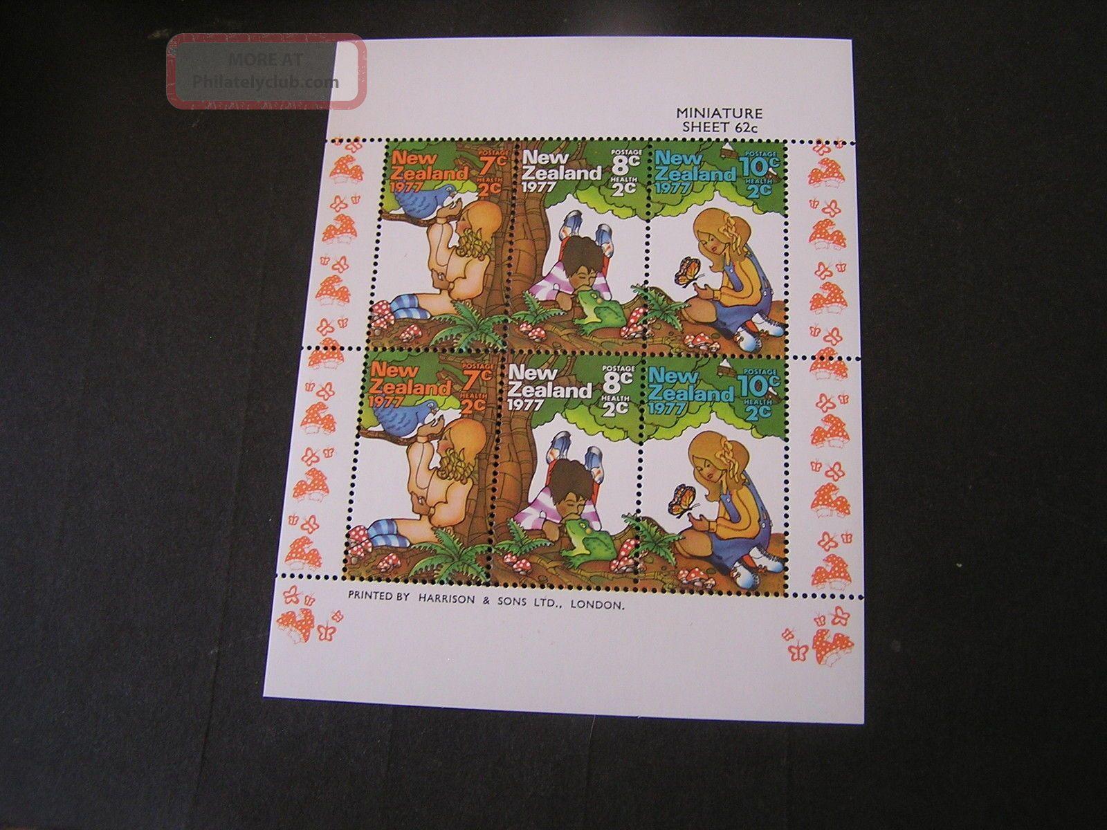 Zealand,  Scott B98 - B100a,  Miniature Sheet Of 6 Semi Postal 1977 Issue Australia & Oceania photo
