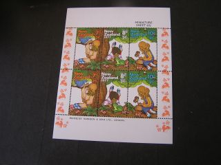 Zealand,  Scott B98 - B100a,  Miniature Sheet Of 6 Semi Postal 1977 Issue photo