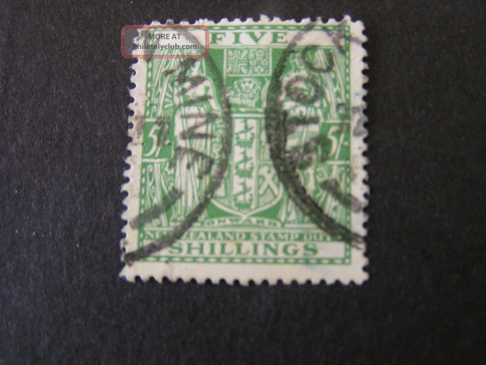 Zealand,  Scott Ar - 50 5/ - Value 1931 - 39 Issue Postal - Fiscal Australia & Oceania photo