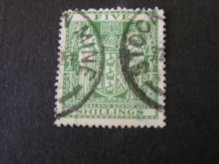 Zealand,  Scott Ar - 50 5/ - Value 1931 - 39 Issue Postal - Fiscal photo