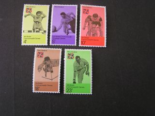 Zealand,  Scott 547 - 551 (5) 1974 Commonwealth Games Nz.  Issue Mvlh photo
