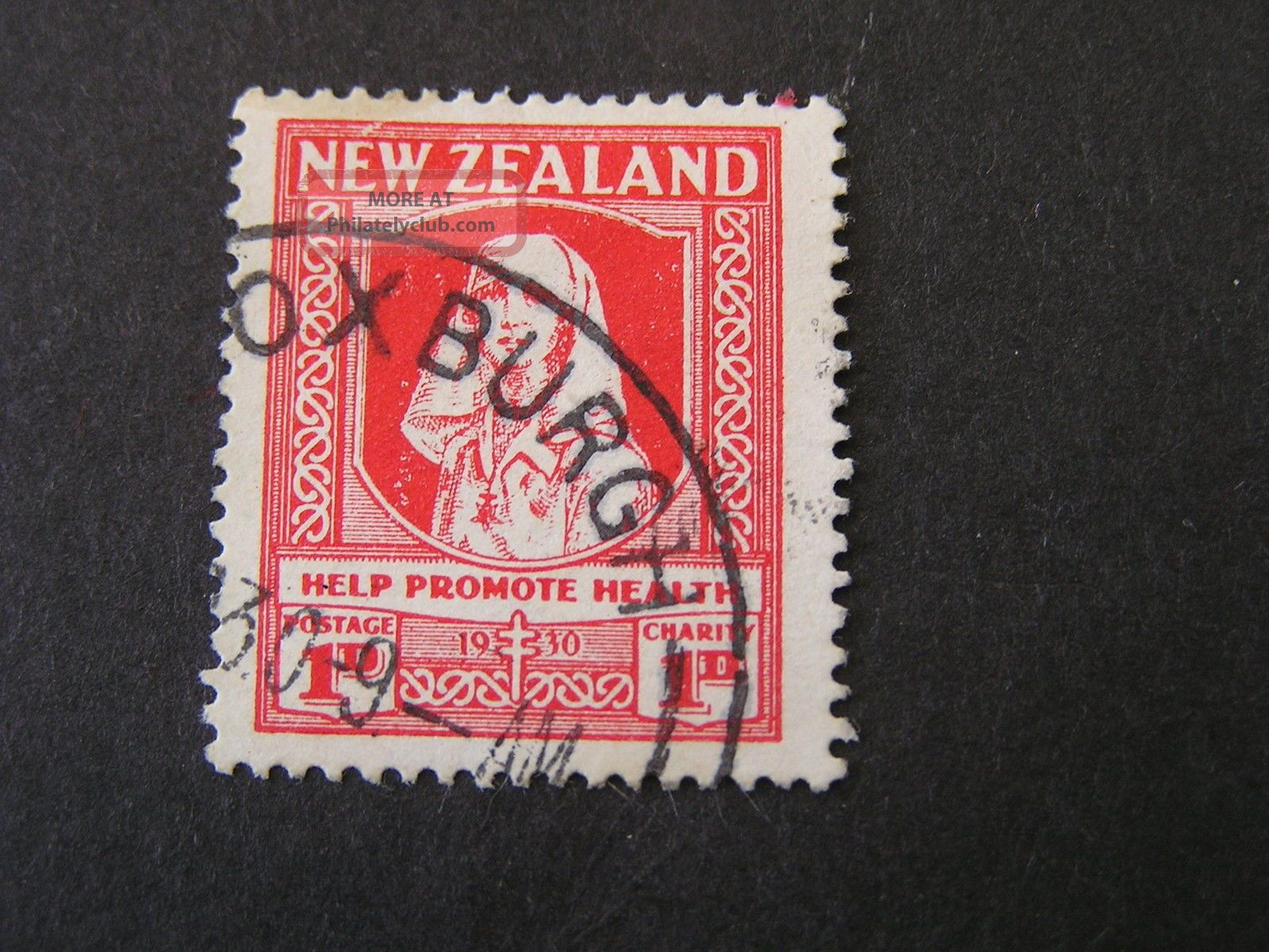 Zealand,  Scott B2,  1p+1p.  Value Semi Postal 1930 Nurse Inscribed Australia & Oceania photo