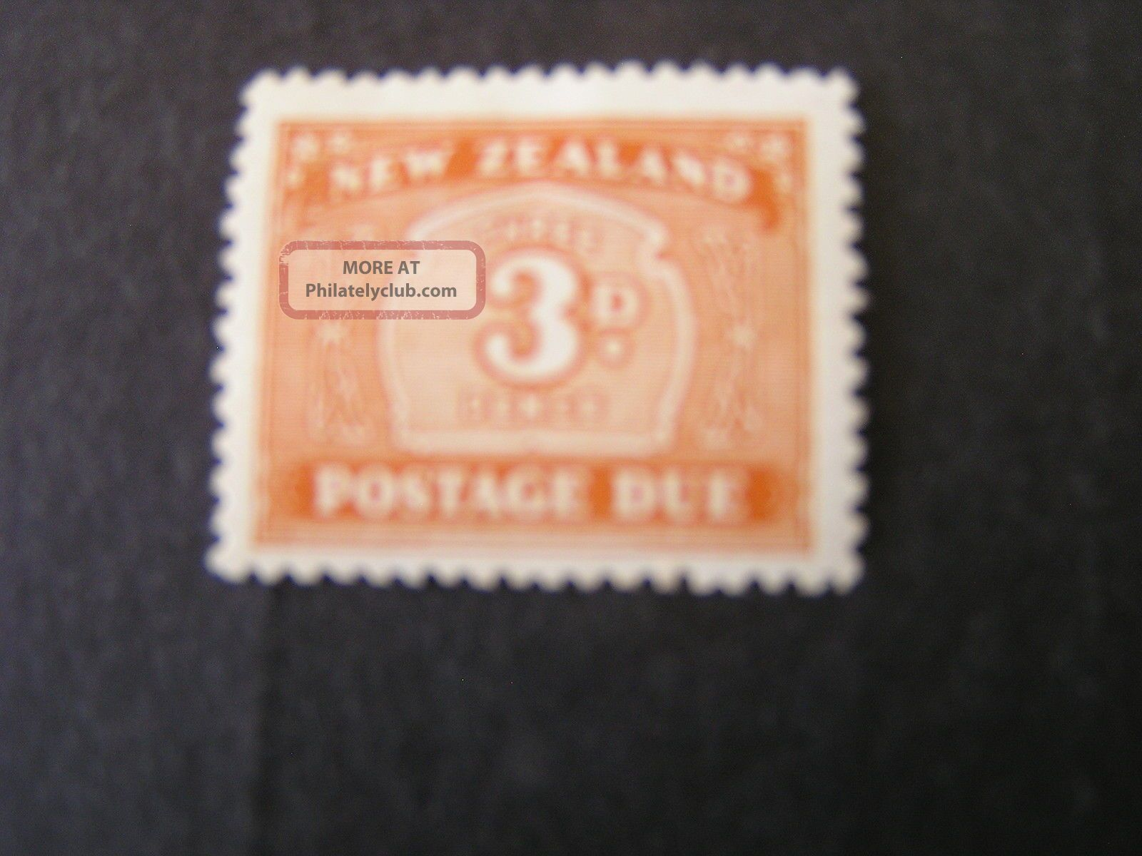 Zealand,  Scott J25,  3p.  Value Brown Orange 1939 Postage Due Issue.  Mh Australia & Oceania photo