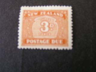 Zealand,  Scott J25,  3p.  Value Brown Orange 1939 Postage Due Issue.  Mh photo