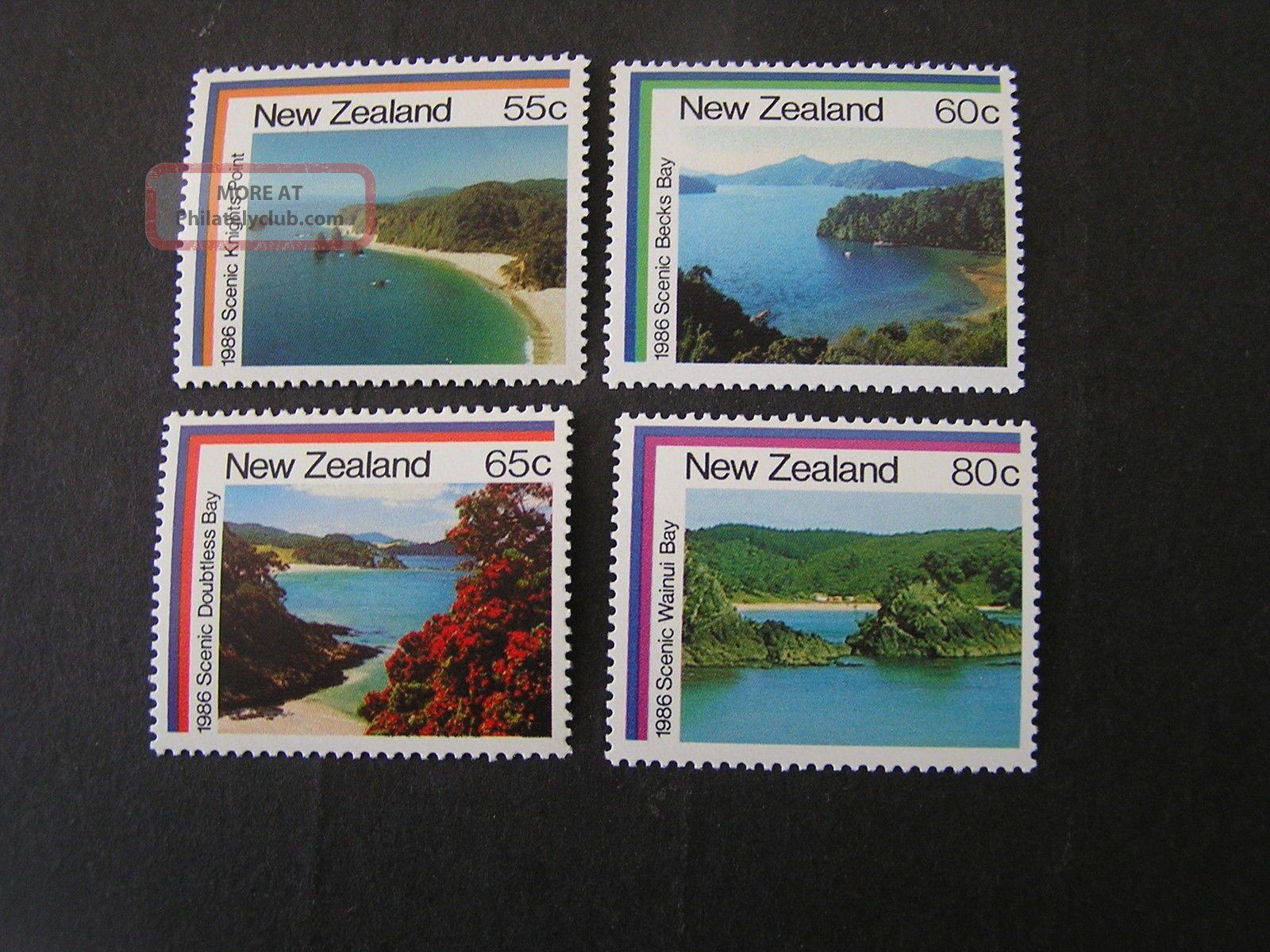 Zealand,  Scott 850 - 853 (4) Local Scenes 1986 Issue. Australia & Oceania photo