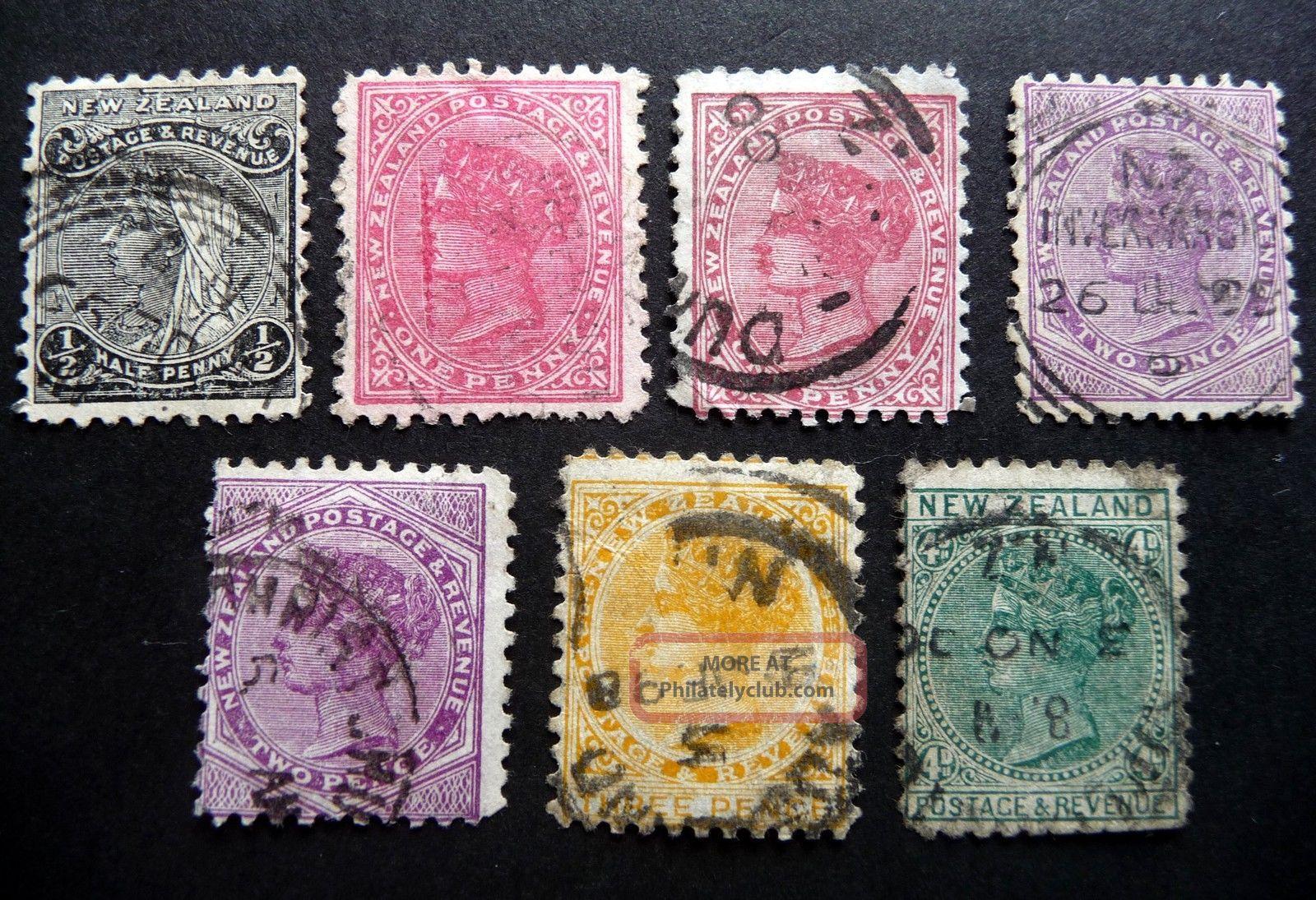 N Z Qvic 1895 - 1900 Definitives Perf 11 Sg236 - 8/40 - 1? As Seen Australia & Oceania photo