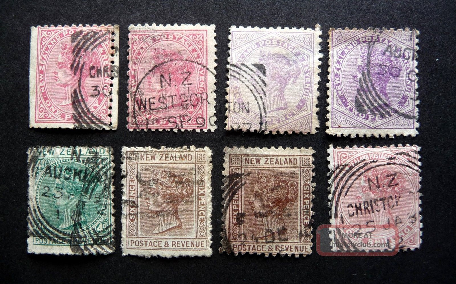 N Z Qvic 1882 - 86 Definitives Perf 12 X 11 1/2 Sg187 - 8/90 - 1/93? As Seen Australia & Oceania photo