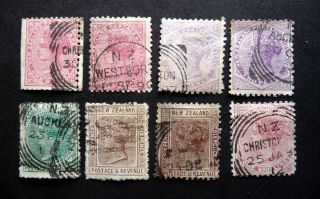 N Z Qvic 1882 - 86 Definitives Perf 12 X 11 1/2 Sg187 - 8/90 - 1/93? As Seen photo